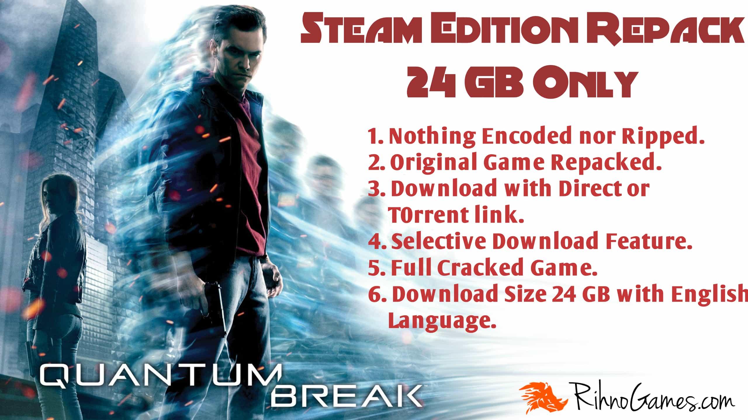 Quantum Break Free Download PC Game Steam Edition Repack 24GB