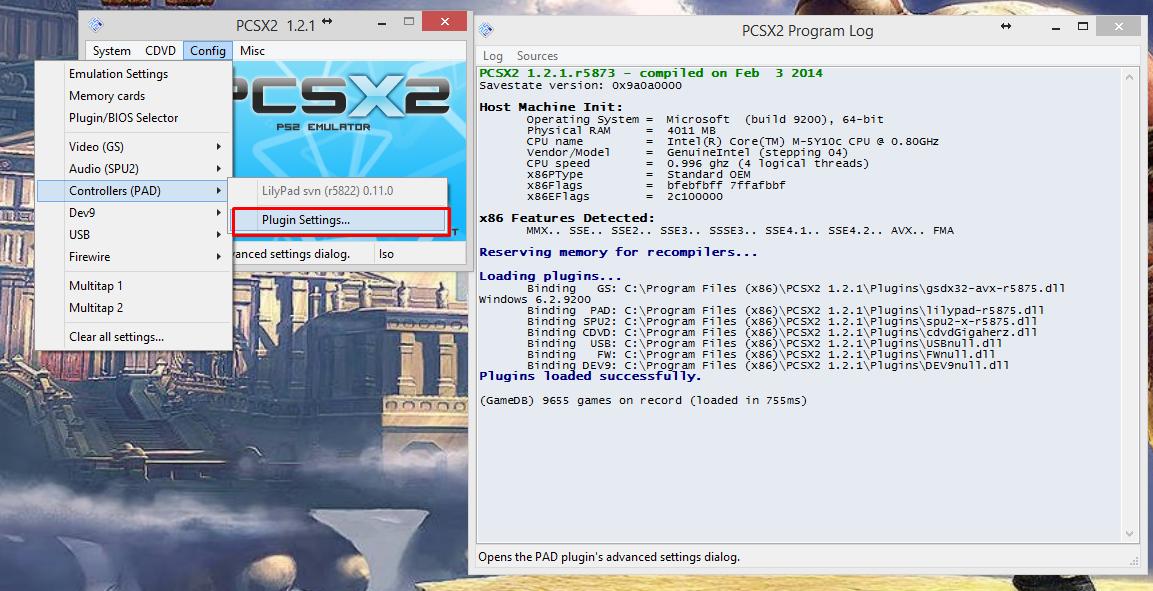 PCSX2 Controls